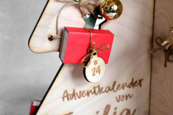 Christbaumkugeln Adventkalender 1-24