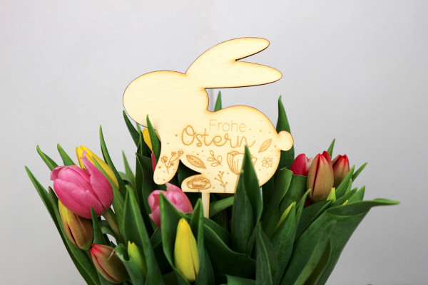 "Caketopper Hase ""Frohe Ostern"""