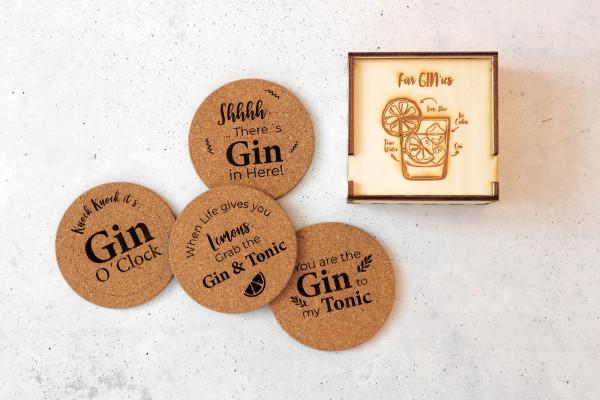 Korkuntersetzer Gin + Box